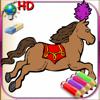Libro colorear para niñas para el iPhone y el iPod con lápices de colores - 50 dibujos para colorear con princesas, hadas, caballos y mucho más - HD
