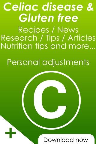 Celiac disease & gluten free recipes , news and healthy vegetarian tips screenshot 1