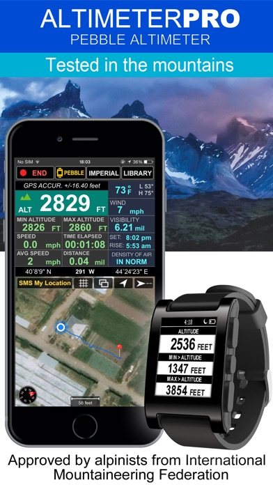download Altimeter -PRO With Pebble Edition  (Compass Weather Speedometer & Location Tracking) apps 0