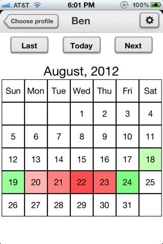Chronic Pain Diary Lite screenshot 1