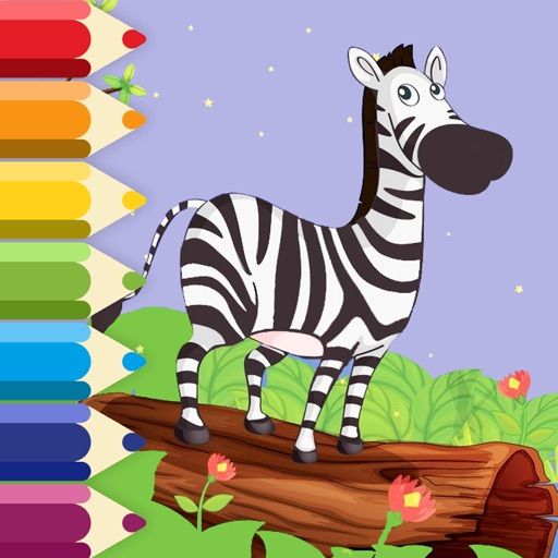 Zebra Coloring Page Game For Kids Edition iOS App