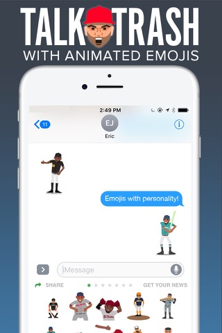 SportsManias: Sports Emojis, Fantasy & Team News screenshot 1
