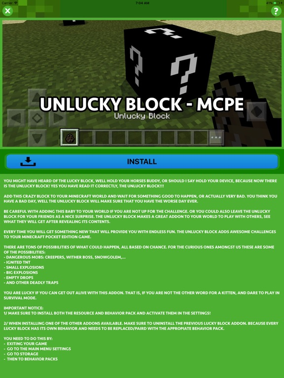 LUCKY BLOCK ADDONS for Minecraft Pocket Edition by Hoai