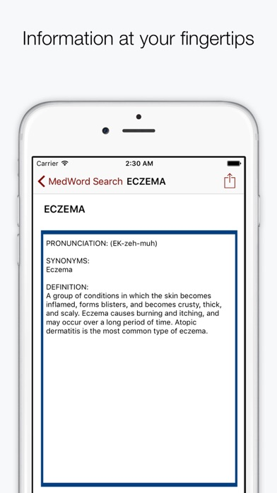 Medical Dictionary And Terminology (aka Medwords) review screenshots