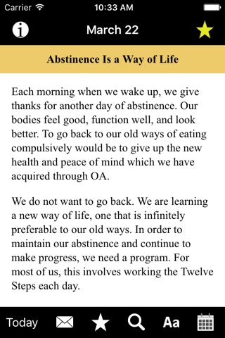 Food for Thought: Daily Meditations for Overeaters screenshot 2