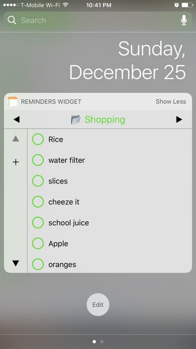 Reminders Widget Screenshots