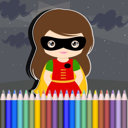 My Coloring Pages Game For Young Justice Version iOS App