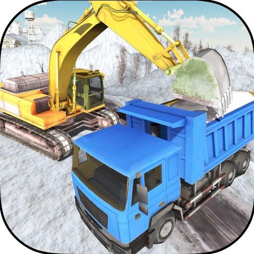 Off-Road Mountain Heavy Excavator Crane Op iOS App
