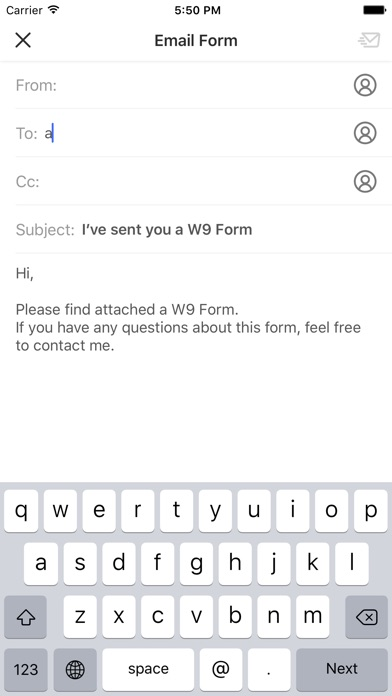 W9Form on the App Store