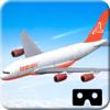 VR simulador de vuelo de avión para google cartón