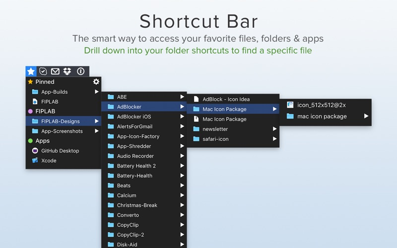 Shortcut Bar - Quick Access Screenshot