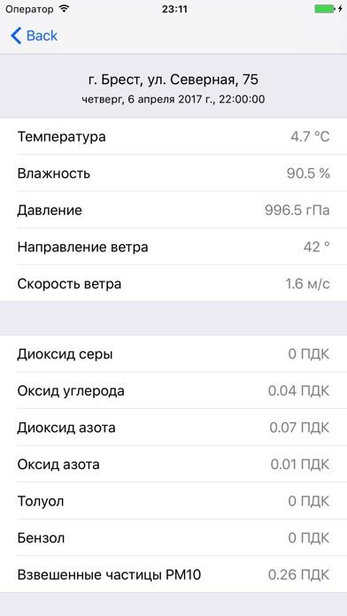 Состояние атмосферного воздуха в БеларусиСкриншоты 3