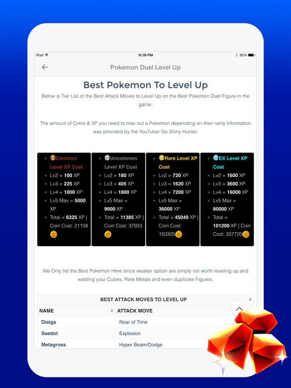 Free Gems Guide for Pokemon Duel-ipad-0