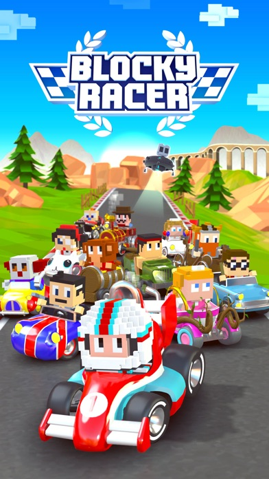 Blocky Racer - Endless Arcade Racing Screenshot