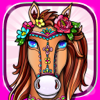 Coloring Books Fun Cute Horse Games for Girls Kids