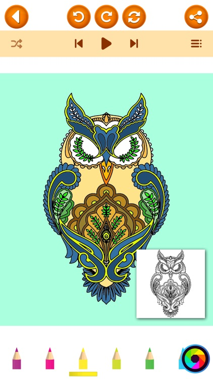 Animal Mandala Coloring Pages In Adult Color Book Screenshot 1