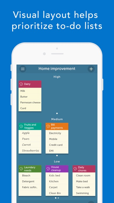 Orderly - To-do Lists, Location Based Reminders Screenshot