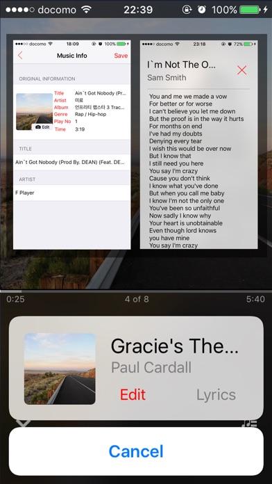 F Player - Music MP3 Player Screenshots