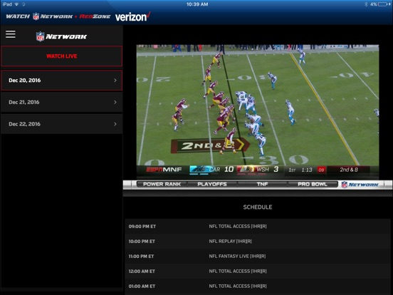 Watch NFL Network Screenshots