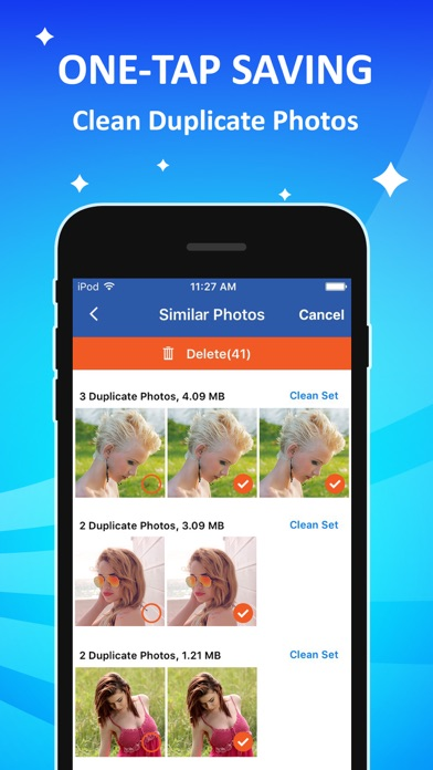 Cleaner delete duplicate photos clean storage on the app store iphone screenshot 1 ccuart Image collections