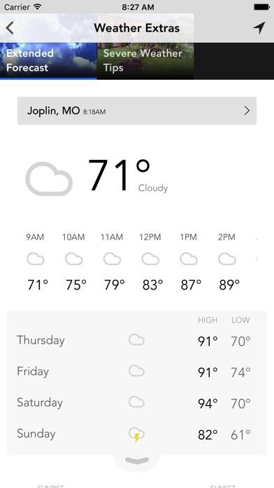 Weather KSN16 KODE12Screenshot of 4