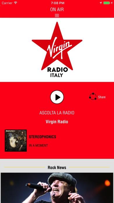 Virgin Radio Italia Screenshot on iOS