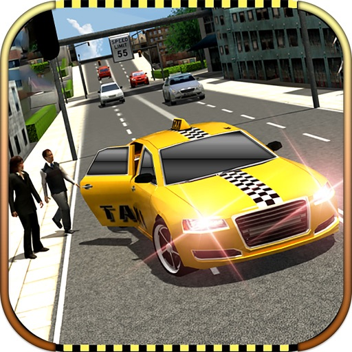 Real Taxi Car Driver : 3D Simulator 2017 Icon