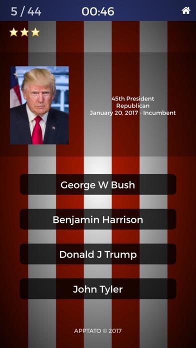 US Presidents Multiple Choice Quiz (Full Version) Screenshot