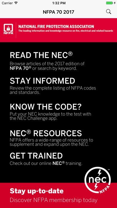 NFPA 70®: NEC® 2017 Edition Screenshot