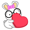 Nerdy Bunny Animated Emoji Stickers Wiki