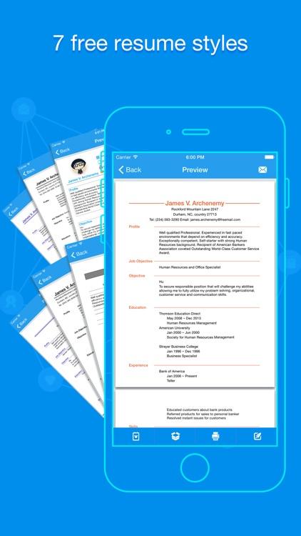 Quick Resume Resumes Builder and Designer by LINKLINKS LTD