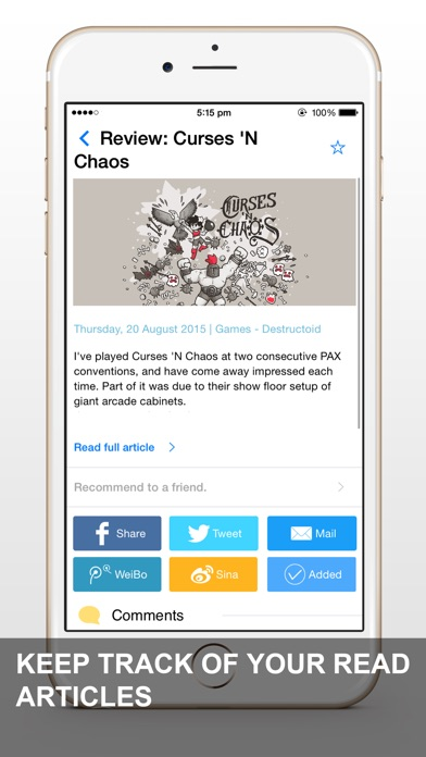 News App - RSS ReaderСкриншоты 2