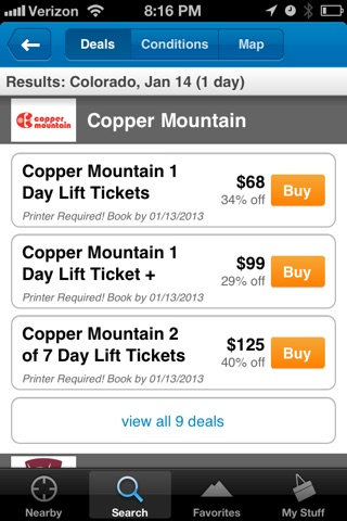 Liftopia Lift Tickets screenshot 3