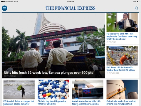 The Financial Express screenshot 1