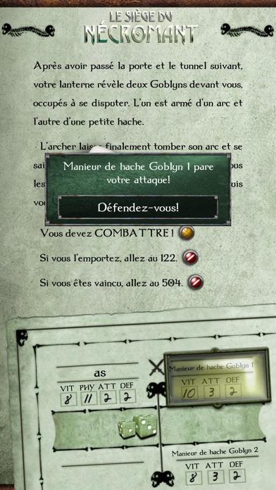 Gamebook Adventures 2: Le Siège du NécromantCapture d'écran de 2