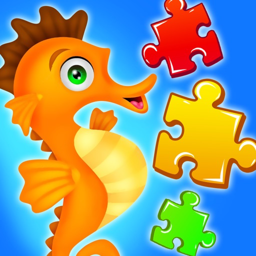 Sea Animal Jigsaw Puzzle for Kids iOS App