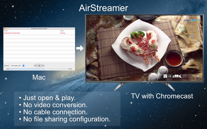 AirStreamer - for Google Chromecast Screenshots