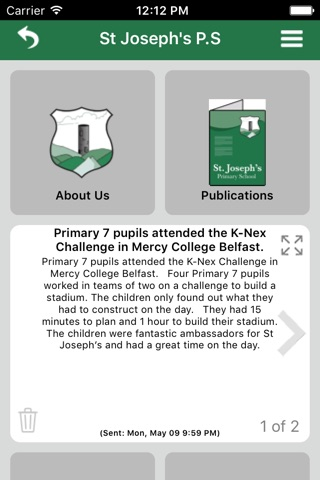 St Joseph's Primary School Carryduff screenshot 1
