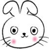 Round Face Rabbit stickers by wenpei App