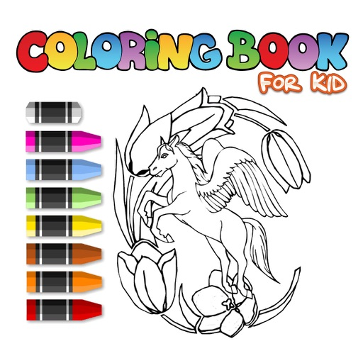 Pegasus Learn Drawing Coloring Book for Children iOS App