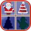 Christmas Matching Pairs - Santa Slaus and Xmas