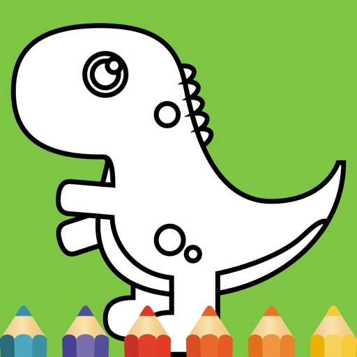 Dinosaurs coloring pages for kids iOS App
