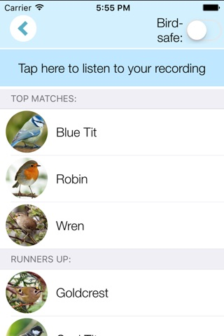 ChirpOMatic UK, Automatic Bird Song Recognition v2 screenshot 3