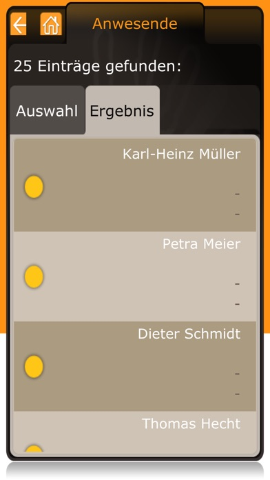 Screenshot von ATOSS Time Control Mobile WFM3