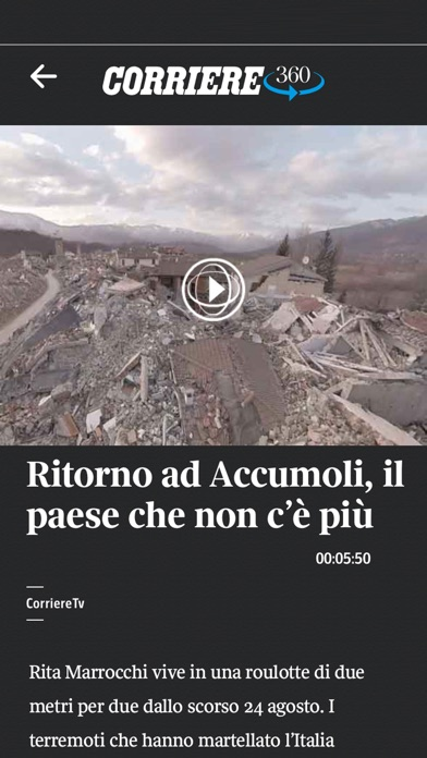 Screenshot of Corriere UP2