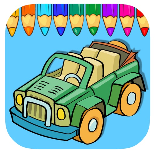 Vehicle Coloring Page Games For Kids Edition iOS App