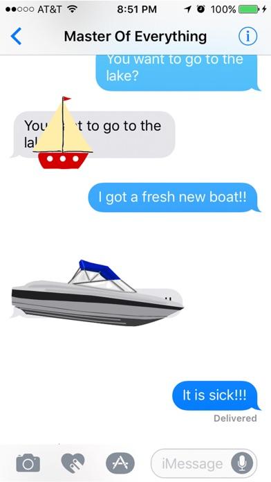 Лодки - плавучий Суд море НаклейкиСкриншоты 1