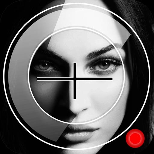Black & White Video Camera With Night Mode Amp. iOS App