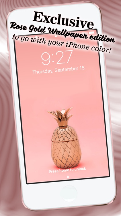 Rose Gold Wallpaper Hd Lock Screen Backgrounds By Milojkovic Marija