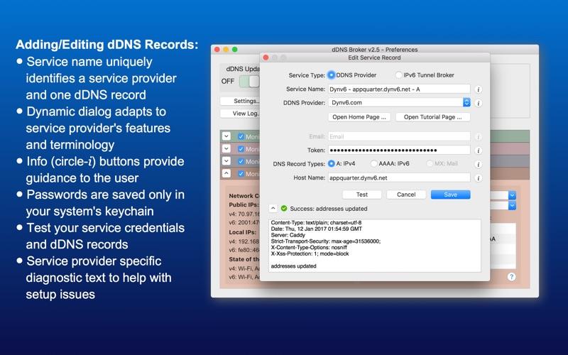 dDNS Broker Screenshots